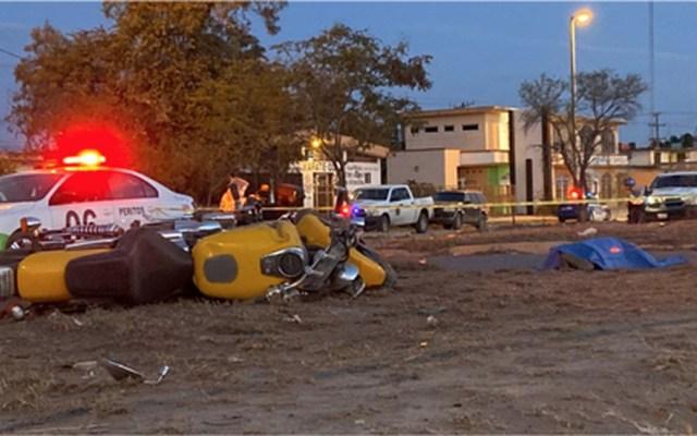 Policía de Tamaulipas muere en accidente de moto - Cuerpo de policía muerto tras accidente en moto. Foto de El Sol de Tampico