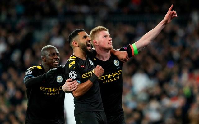 Manchester City remonta al Real Madrid en el Santiago Bernabéu - De Bruyne festeja gol contra el Real Madrid. Foto de EFE