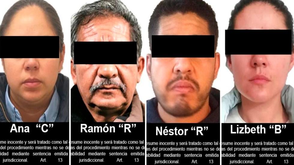 Dan prisión preventiva a cuatro por delincuencia organizada y lavado de dinero - Detenidos en Metepec por delincuencia organizada y lavado de dinero. Foto de FGR