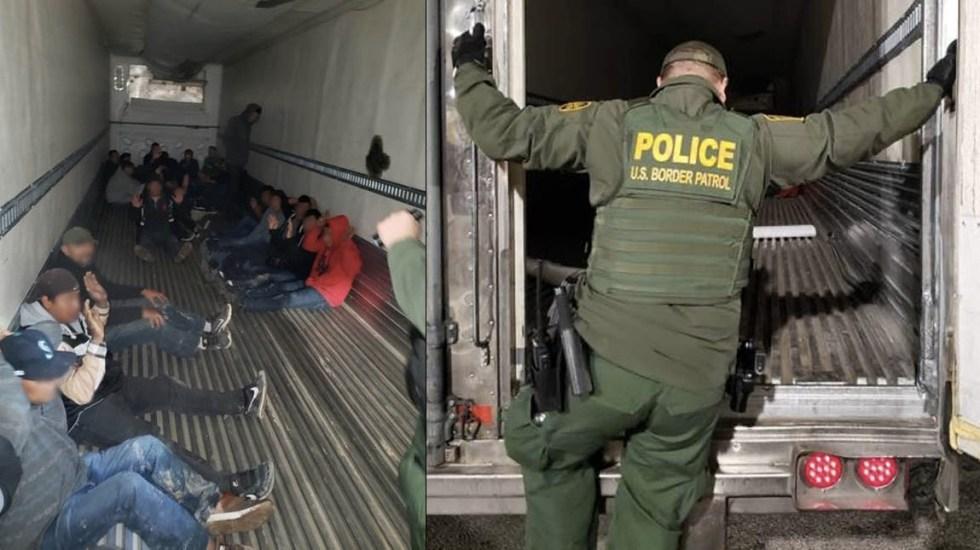 Hallan tráiler con 26 migrantes en El Centro, California - El Centro California CBP Tráiler migrantes