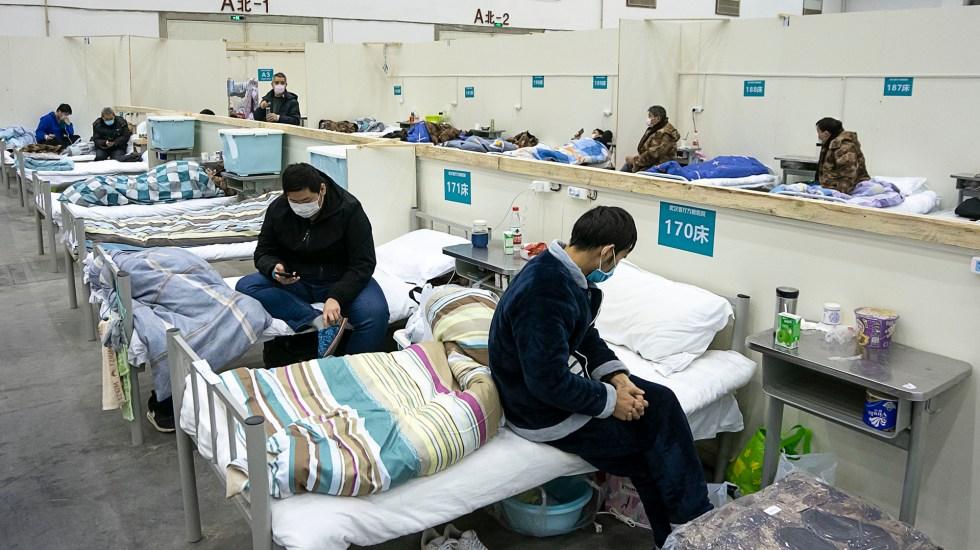 Suman 2 mil 715 muertos en China por Covid-19 - Enfermos de Covid-19 en China. Foto de Notimex