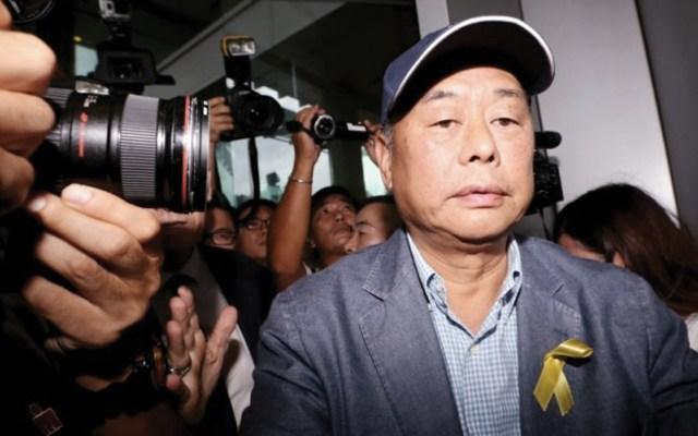 Hong Kong detiene a director de diario y dos políticos demócratas por protestas - Jimmy Lai Chee-ying. Foto de Asia News