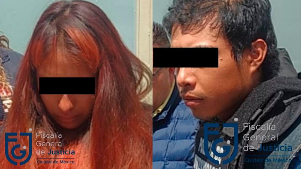 Juez determina que audiencia de Giovana y Mario 'N' sea privada - Giovana y Mario, presuntos secuestradores y asesinos de Fátima. Foto de @PDI_FGJCDMX