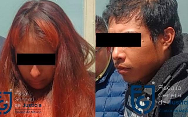 Abuela materna pedirá custodia de hijos de presunta pareja feminicida de Fátima - Giovana y Mario, presuntos secuestradores y asesinos de Fátima. Foto de @PDI_FGJCDMX