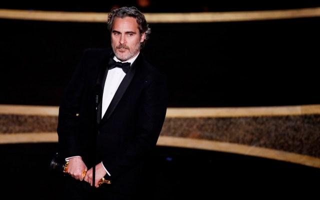 Phoenix, Zellweger y 'Parasite' se llevan la noche del Óscar - Joaquin Phoenix ganó el Óscar como Mejor actor por 'Joker'. Foto de EFE