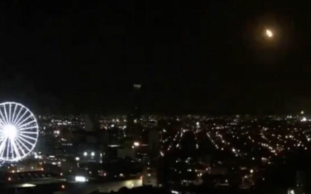 Poco probable que meteorito haya impactado en territorio nacional, informa Protección Civil - Foto de @webcamsdemexico