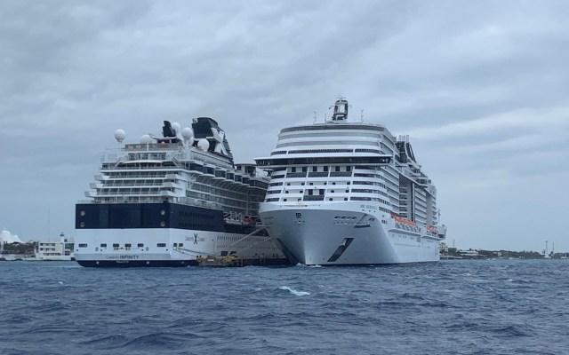 Aplican protocolos de sanidad en crucero de Cozumel - Foto de EFE.