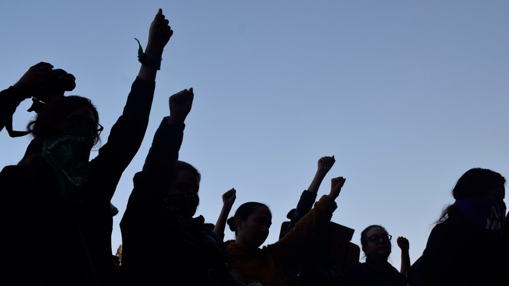 Cinvestav se suma al paro #UnDíaSinNosotras - Mujeres en protesta por ola de feminicidios en México. Foto de Notimex