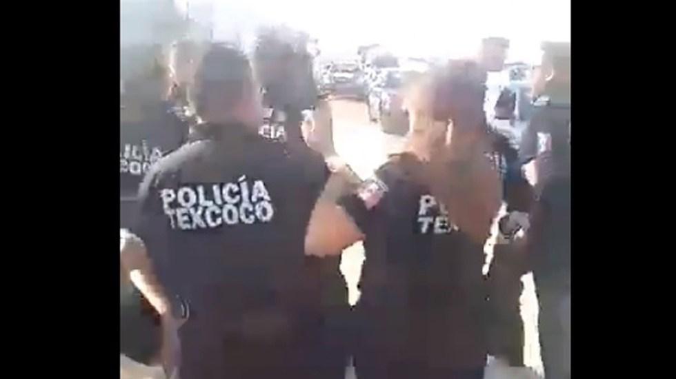 #Video GN aclara que agresión de policías de Texcoco ocurrió en 2019 - Pelea policías de Texcoco y federales. Captura de pantalla