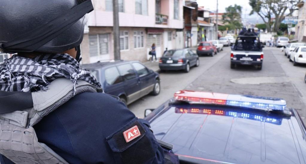 Muere policía herido en captura de 'El vocho' en Uruapan - Policía de Michoacán. Foto de @Silvano_A