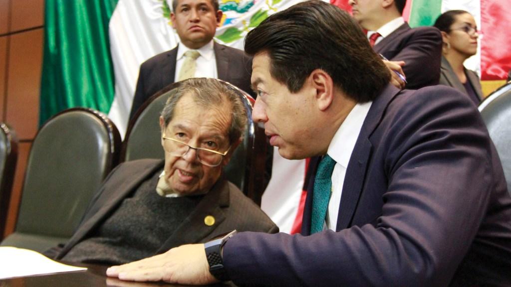 Muñoz Ledo reclama a Mario Delgado por falta de apoyo a Ramírez Cuellar - En la foto, Porfirio Muñoz Ledo y Mario Delgado. Foto de Notimex