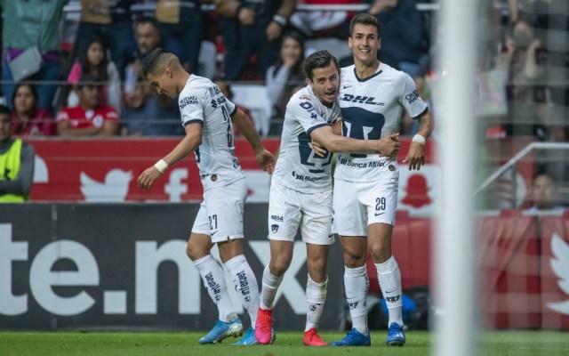 Pumas remonta al Toluca y es nuevo líder del Clausura 2020 - Foto de Mexsport