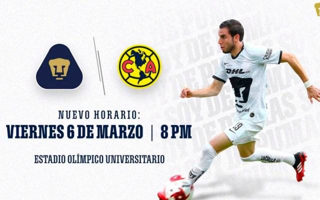 Pumas vs América se jugará en viernes por marchas del 8 de marzo - pumas vs América