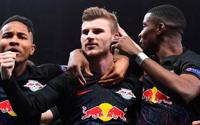 Penalti da victoria a RB Leipzig contra Tottenham - RB Leipzig festeja victoria ante el Tottenham. Foto de EFE