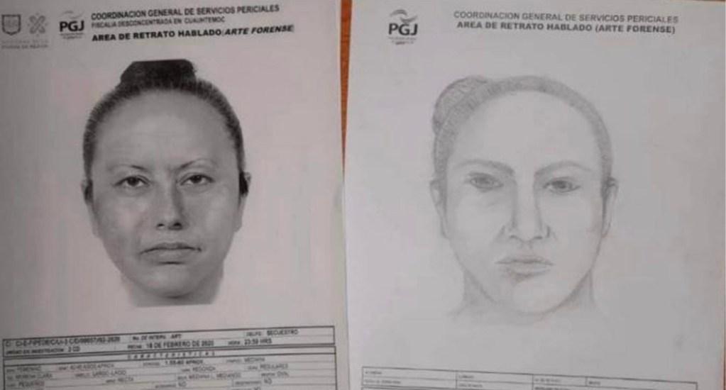 El retrato hablado de la mujer que presuntamente se llevó a Fátima - Retrato hablado de la mujer que presuntamente raptó a Fátima