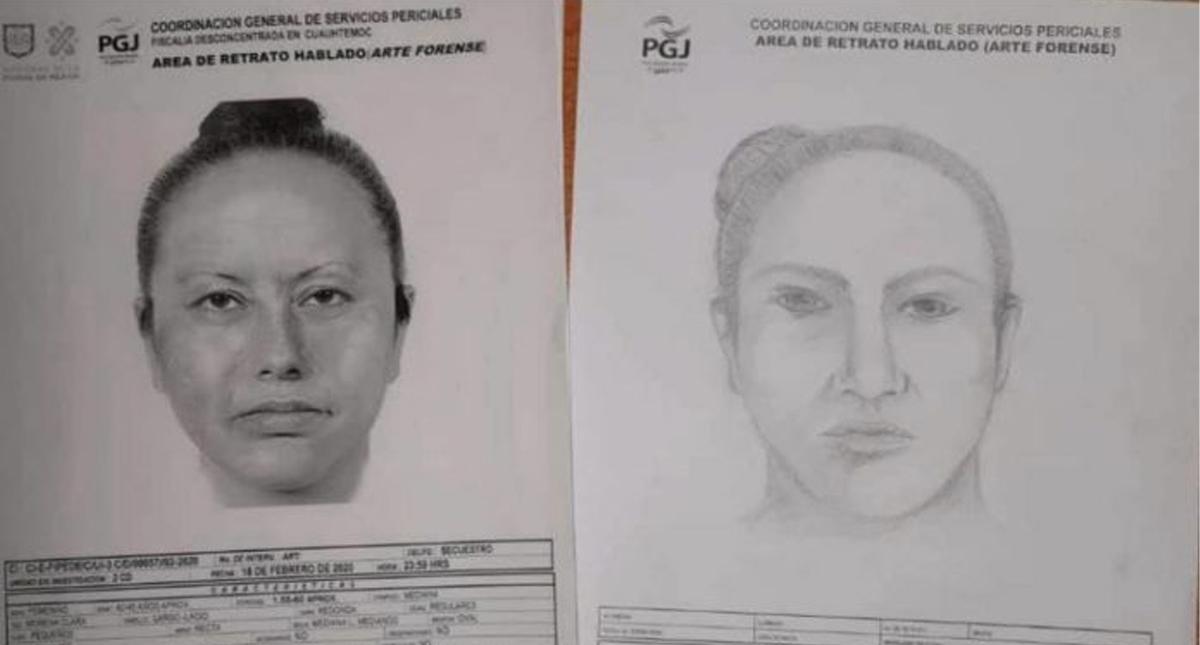 Retrato hablado de la mujer que presuntamente raptó a Fátima