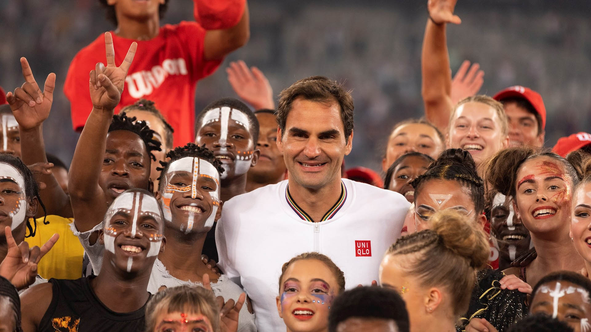 Roger Federer y Rafael Nadal partido África