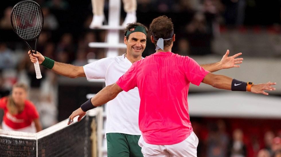 Nadal y Federer rompen récord de espectadores en África - Roger Federer y Rafael Nadal partido África