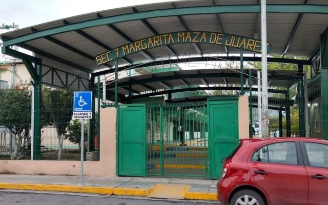 Alumno de secundaria amenaza con tiroteo en Nuevo León - Imagen de la fachada de la Secundaria Número 7, Margarita Maza de Juárez San Nicolás, Nuevo León. Foto de Google Maps.