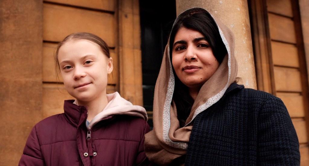 """Hoy conocí a mi modelo a seguir"", dice Greta Thunberg tras encuentro con Malala - Thunberg y Malala. Foto de @GretaThunberg"