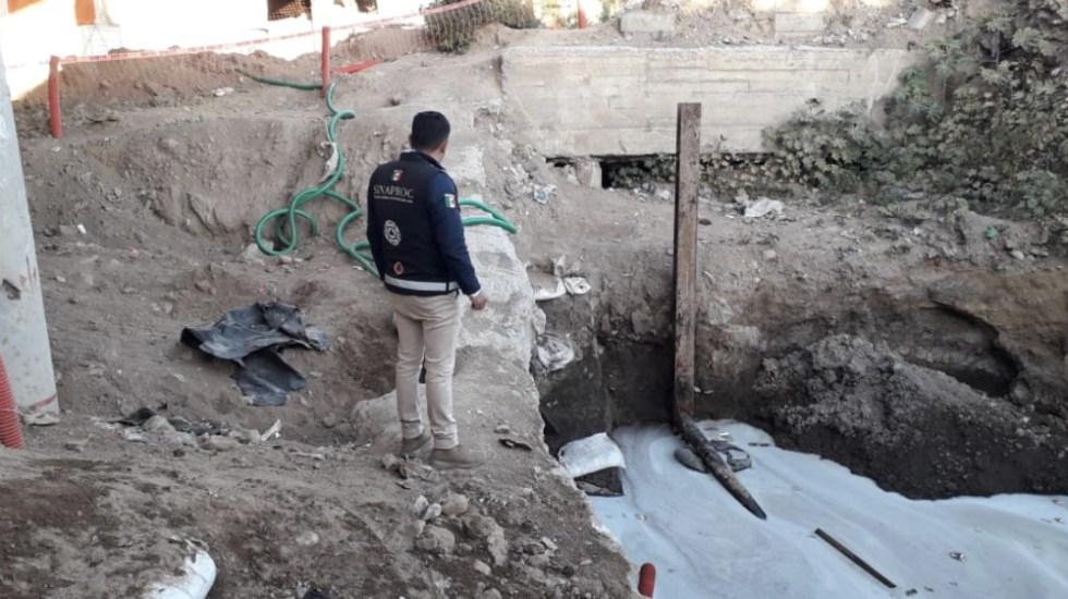 Localizan tractocamión conectado a toma clandestina en la GAM - Foto de @CNPC_MX
