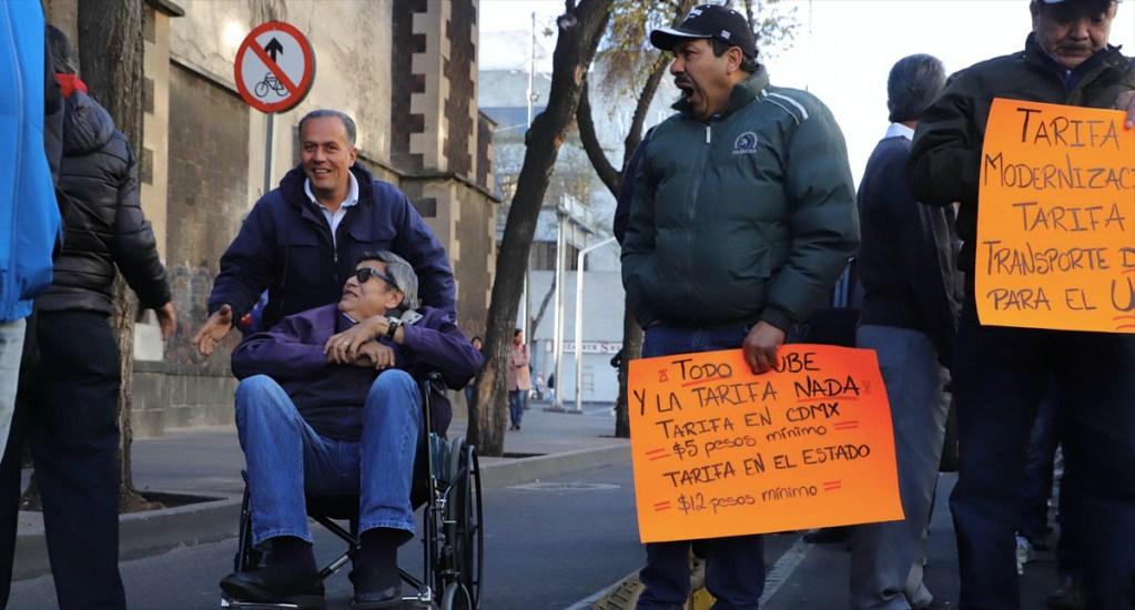 Transportistas cancelan megamarcha del miércoles en la Ciudad de México - Transportistas Ciudad de México protesta 2