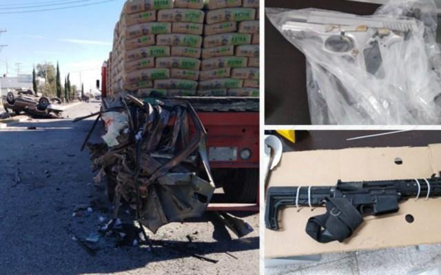 Persecución en Puebla deja tres presuntos delincuentes muertos - Foto de SSP Puebla