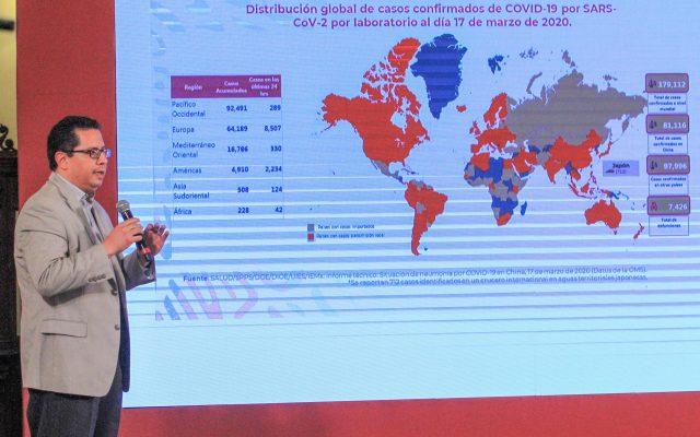 Versión estenográfica | Conferencia de prensa. Informe diario sobre coronavirus COVID-19 en México - Foto de Notimex.