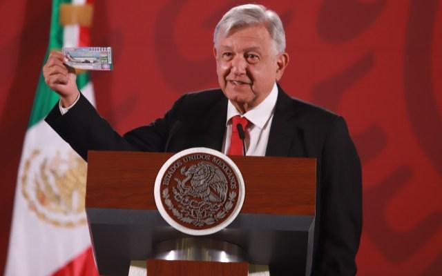 Venta de 'cachitos' por rifa del Avión Presidencial inicia el día del paro nacional de mujeres - El presidente Andrés Manuel López Obrador, durante su conferencia matutina. Foto de Notimex-Gustavo Durán.
