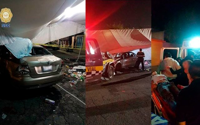 Conductor embiste a asistentes a fiesta en GAM y deja tres lesionados - Foto de SSC