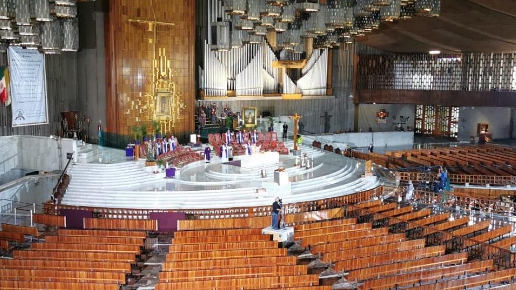 Misas se transmitirán por TV y redes sociales, anuncia Arquidiócesis - Basílica Guadalupe Misa transmitida