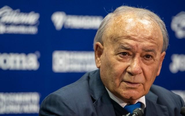 Billy Álvarez quiere que Cruz Azul juegue 'al cero error' - Billy Álvarez, presidente del Cruz Azul. Foto de Mexport