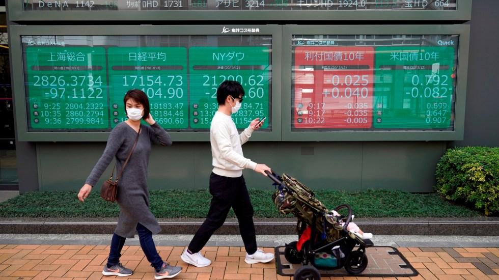 Índice Nikkei abre con caída del 3 por ciento tras desplome en Wall Street - Foto de EFE