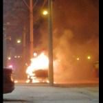 Incendian vehículos y atacan inmuebles en Celaya, Guanajuato