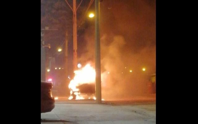Incendian vehículos y atacan inmuebles en Celaya, Guanajuato - Celaya Guanajuato incendios sujetos