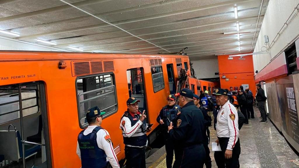 Tres usuarios hospitalizados tras choque en Metro Tacubaya; tren iba a 60 km/h: Florencia Serranía - Choque metro Tacubaya