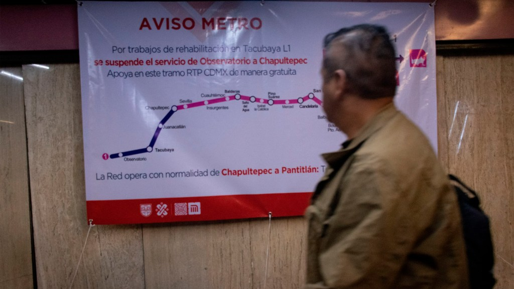 Servicio de Observatorio a Chapultepec continuará suspendido este viernes: Florencia Serranía - Servicio choque metro tacubaya observatorio
