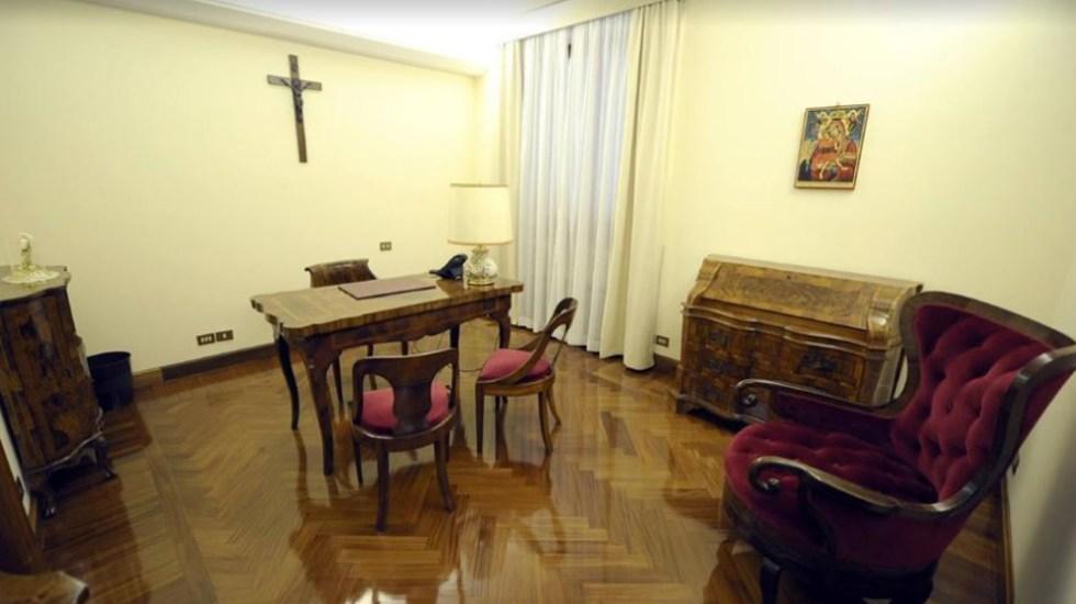 Residente de la casa papal da positivo a COVID-19 - Despacho en casa Santa Marta en la que habita el papa Francisco. Foto de Google Maps / Paolo Liberali