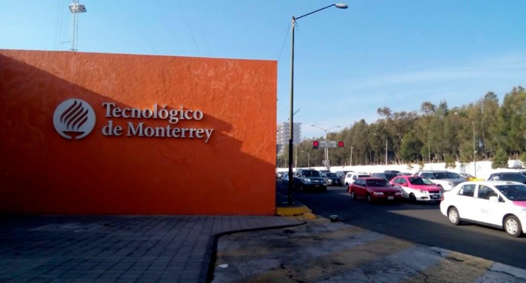 Tec de Monterrey cancela clases presenciales por coronavirus - Entrada del Tec de Monterrey campus Santa Fe. Foto de Google Maps / Arturo Ocampo
