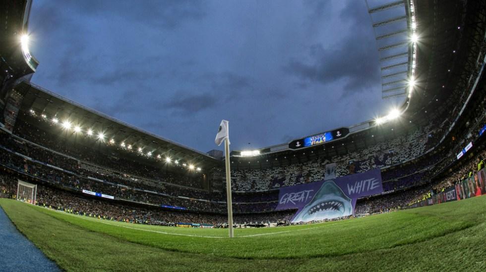 Habilitan el Estadio Santiago Bernabéu para donación de material sanitario - Foto de EFE