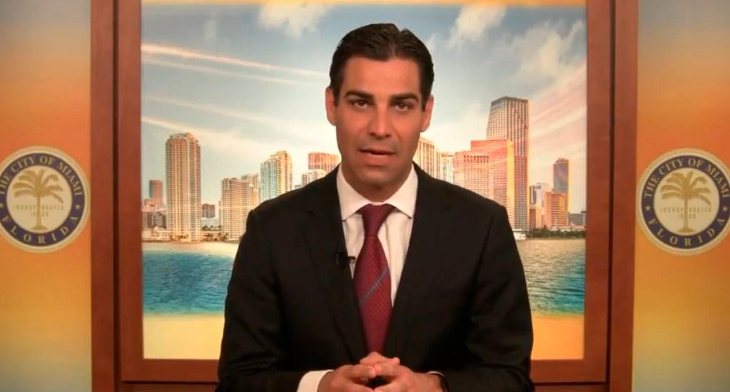 Alcalde de Miami da positivo a coronavirus - Francis Suarez, alcalde de Miami. Captura de pantalla / @MiamiMayor
