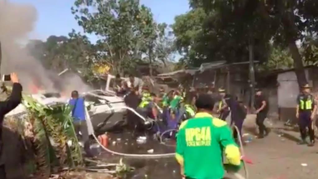 Jefe de la Policía de Filipinas resulta herido en accidente de helicóptero - Jefe policía Filipinas accidente helicóptero