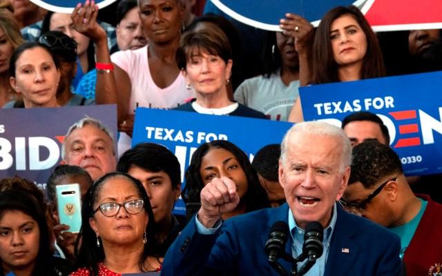 Biden llega renovado al 'supermartes' tras triunfo en Carolina del Sur - Joe Biden en Texas. Foto de EFE