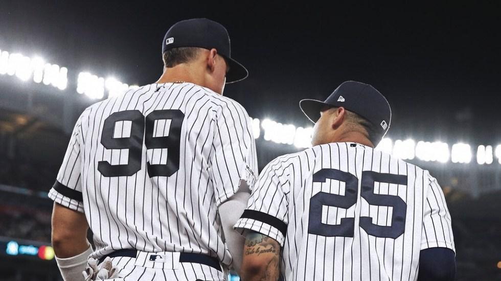 Yankees de Nueva York confirma segundo jugador con coronavirus - Jugadores de los Yankees de Nueva York. Foto de @yankees