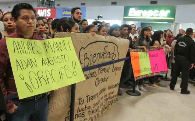 Cientos de personas reciben a AMLO en Tabasco - López Obrador Tabasco AMLO visita