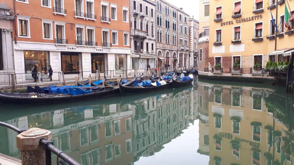 COVID-19 evidencia que el mundo no está preparado para un 'cisne verde' - Los canales de Venecia, Italia, lucen limpios desde la cuarentena por el COVID-19. Foto de EFE