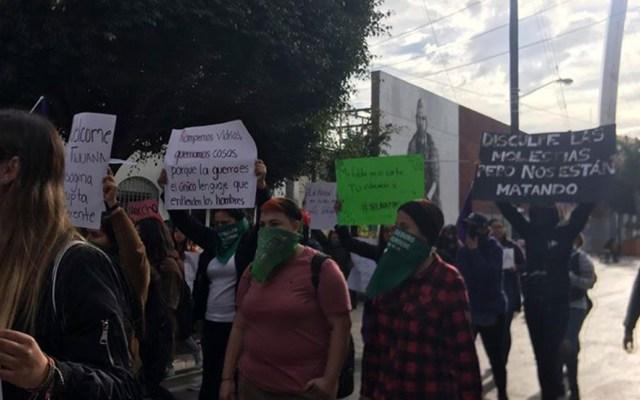 Segob admite solicitud de Alerta de Violencia de Género en Baja California - Manifestación contra la violencia de género en Baja California. Foto de @CEDHBC