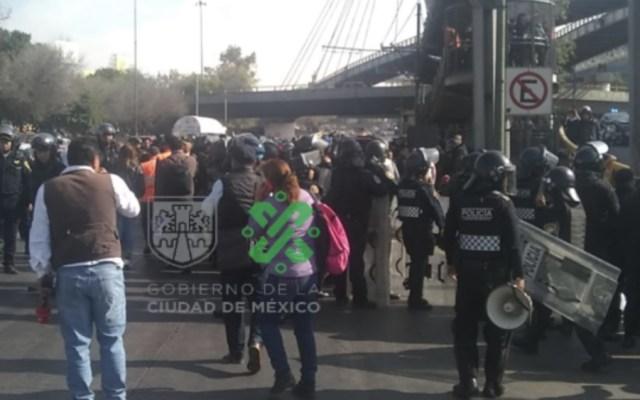 Reabren Circuito Interior tras bloqueo de manifestantes - Foto de @OVIALCDMX