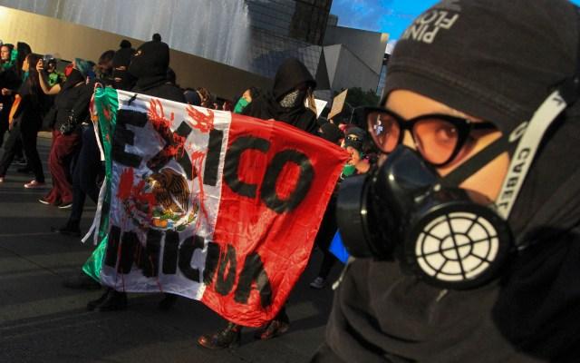 Mujeres están enojadas con la violencia, no con el gobierno; dice Sánchez Cordero - Marcha contra los feminicidios en México. Foto de Notimex
