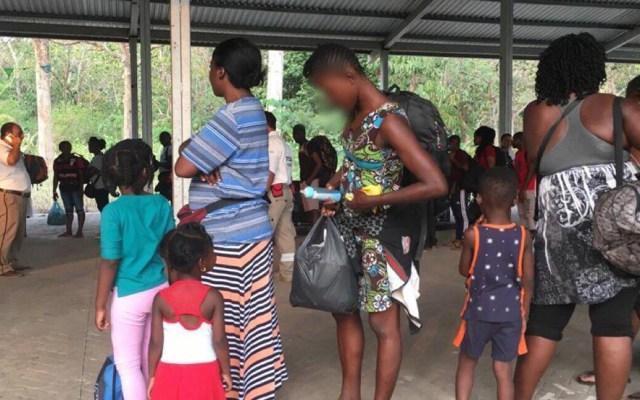 Migrantes en Chiapas desconocen situación del coronavirus - Migrantes en albergue temporal de Tapachula. Foto de @SEGOB_mx